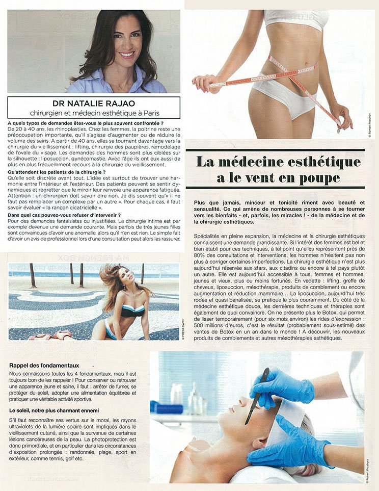 Interview with Dr. Natalie Rajaonarivelo published in Gala